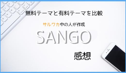 「cocoon」から「SANGO」にテーマを移行したので比較
